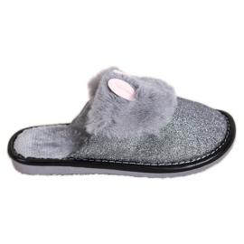 Bona Glitter pantoffels met beschadiging grijs