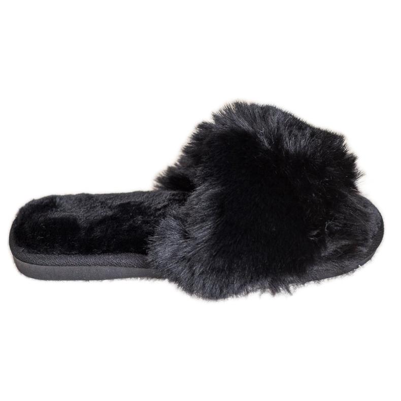 Bona Stijlvolle zwarte pantoffels