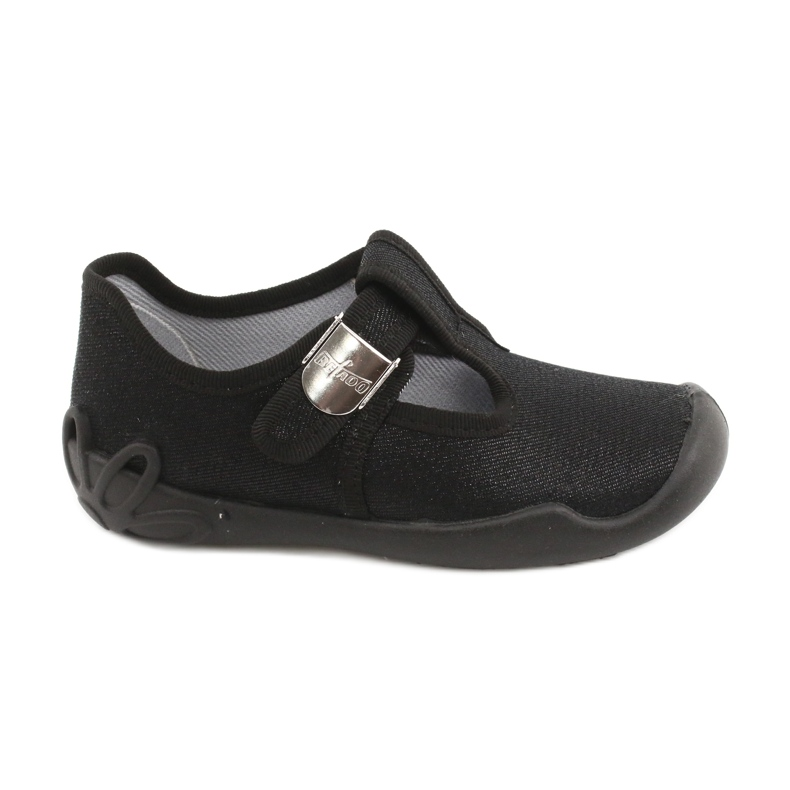 Befado kinderschoenen blanka zwart 115X006 zilver