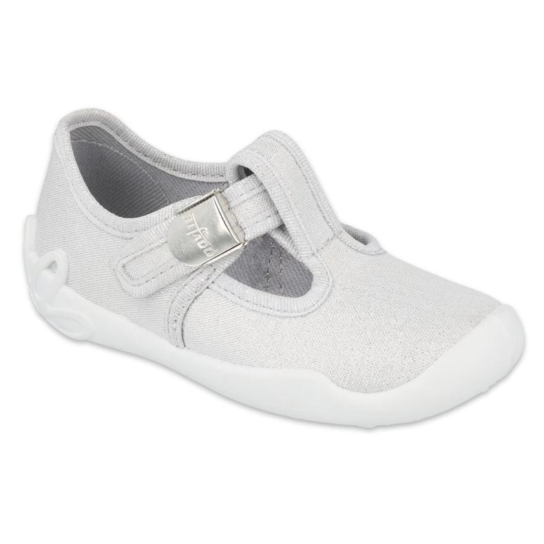 Befado kinderschoenen zilver blank 115X001 grijs