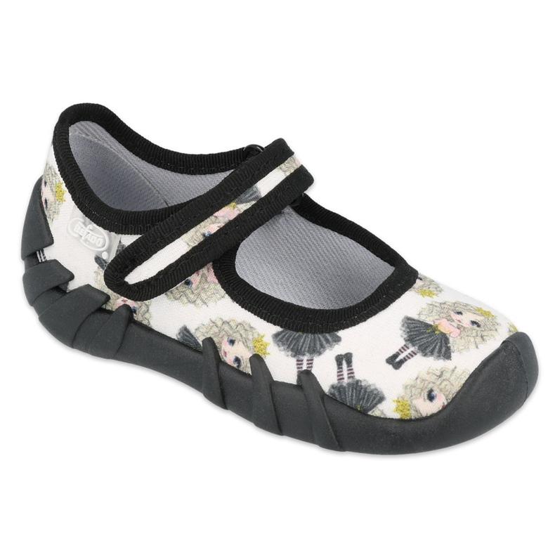 Befado prinses snelle schoenen 109P228 zwart ecru