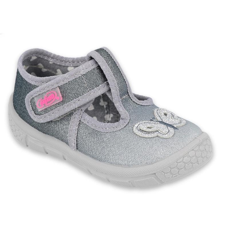 Befado kinderschoenen 533P006 zilver grijs