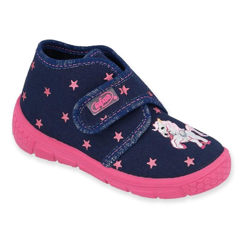 Befado kinderschoenen 538P015 marineblauw roze