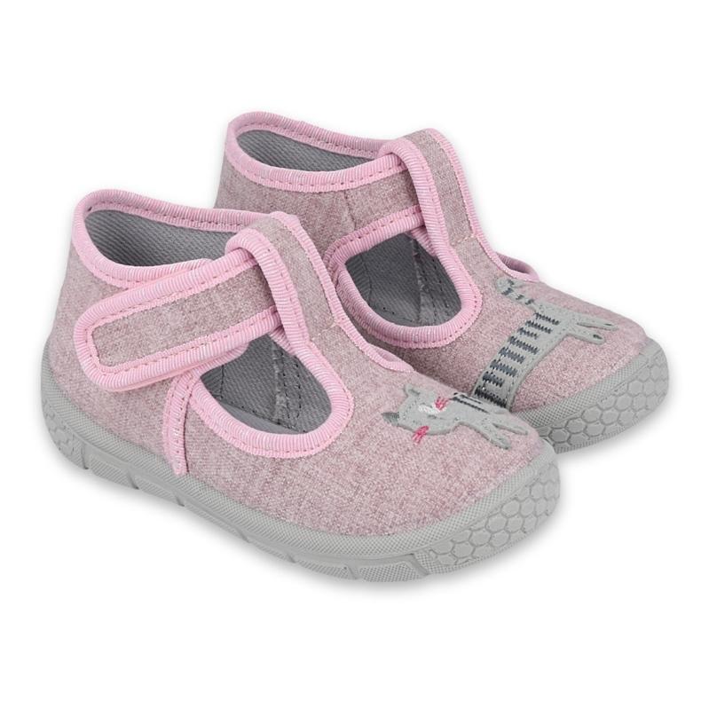 Befado kinderschoenen 531P084 roze grijs