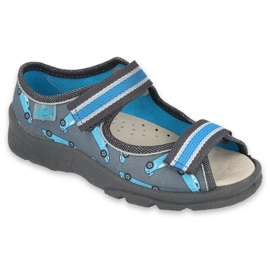 Befado kinderschoenen 869X148 blauw grijs
