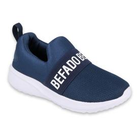 Befado jeugdschoenen 516Q082 wit marineblauw