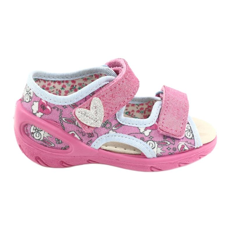 Befado kinderschoenen pu 065P147 roze veelkleurig