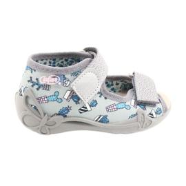 Befado gele kinderschoenen 342P025 blauw zilver grijs