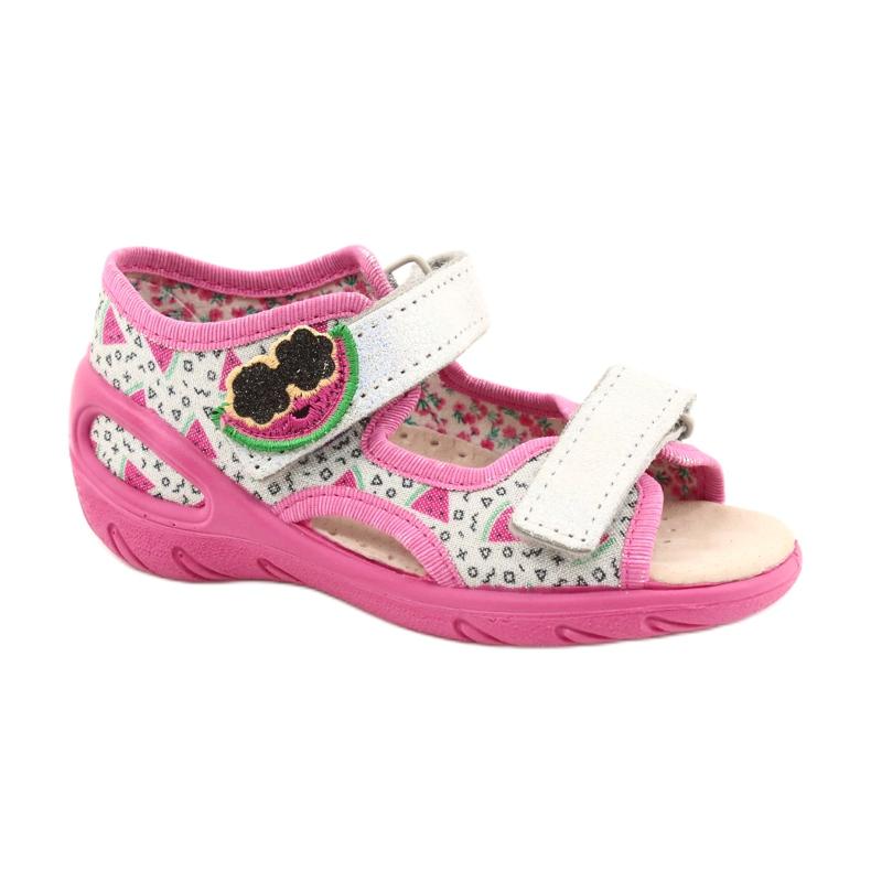 Befado sandalen kinderschoenen 065P148 roze zilver grijs