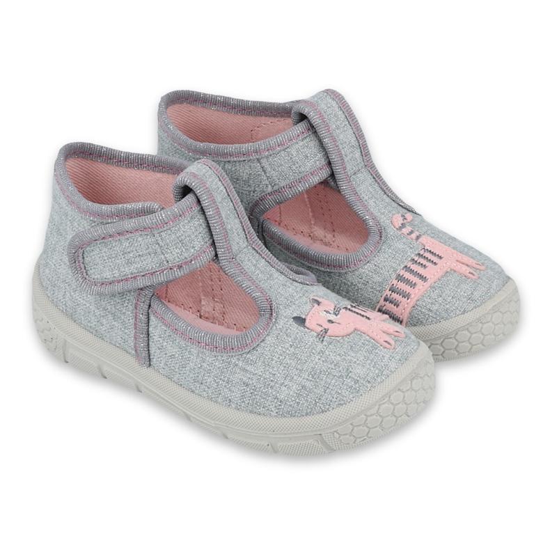 Befado kinderschoenen 531P072 roze grijs
