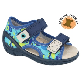 Befado kinderschoenen pu 065P156 marineblauw blauw groente