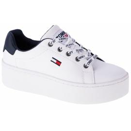Tommy Hilfiger Iconic Leather Flatform-schoenen van EN0EN01113-YBR wit marine