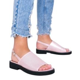 Roze sandalen met platte hak van Betsy