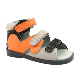 Hoge profylactische sandalen Mazurek 291 grijs oranje