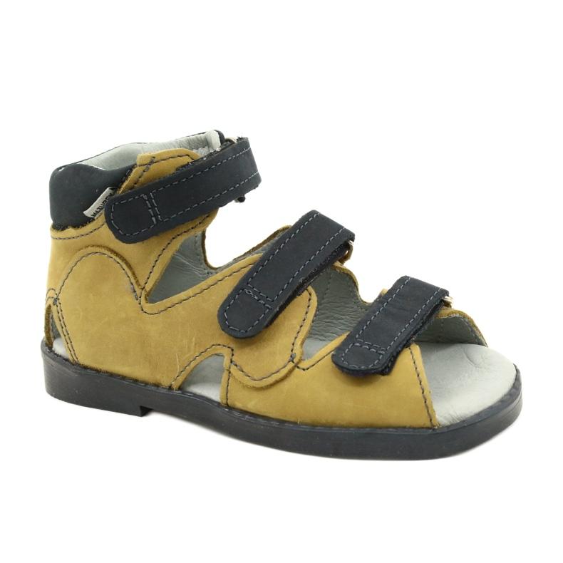 Hoge profylactische sandalen Mazurek 291 grijs oranje geel