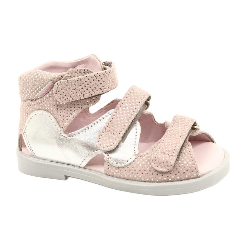 Hoge profylactische sandalen Mazurek 291 roze-zilver