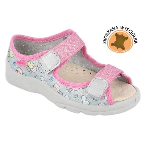 Befado sandaal voor meisjes 869x154 roze zilver grijs