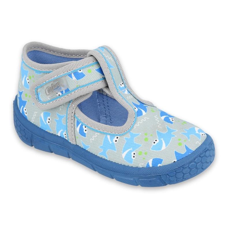 Befado kinderschoenen 531P091 blauw grijs