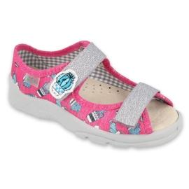 Befado kinderschoenen 869X152 roze grijs