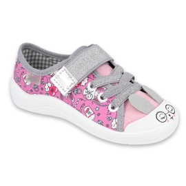Befado kinderschoenen 251X170 roze grijs