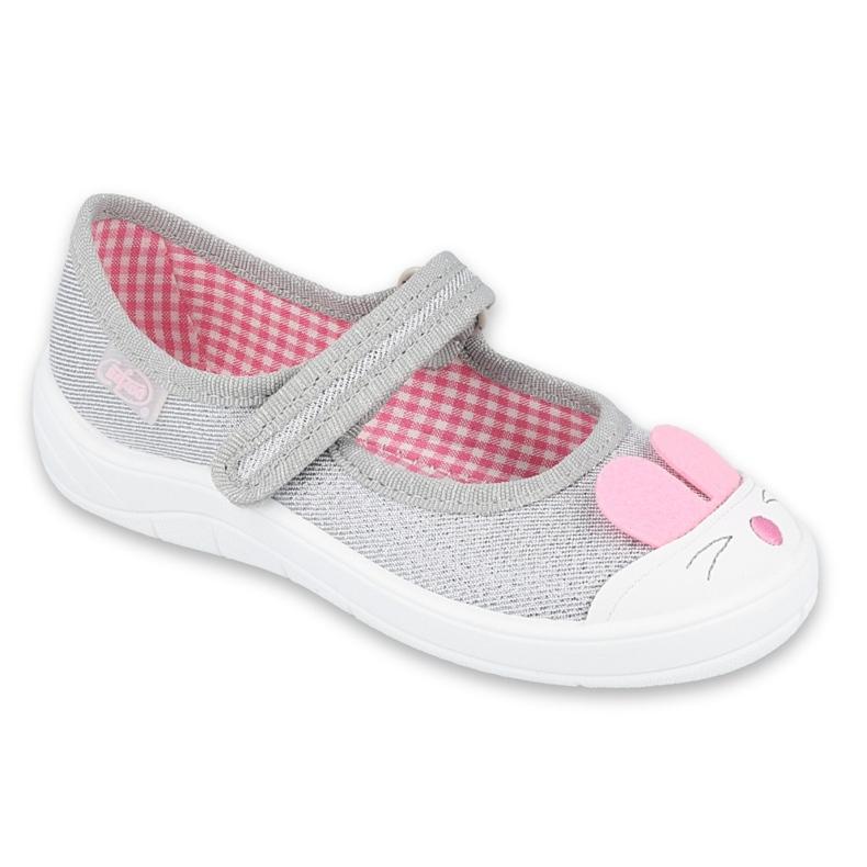 Befado kinderschoenen 208X046 roze grijs