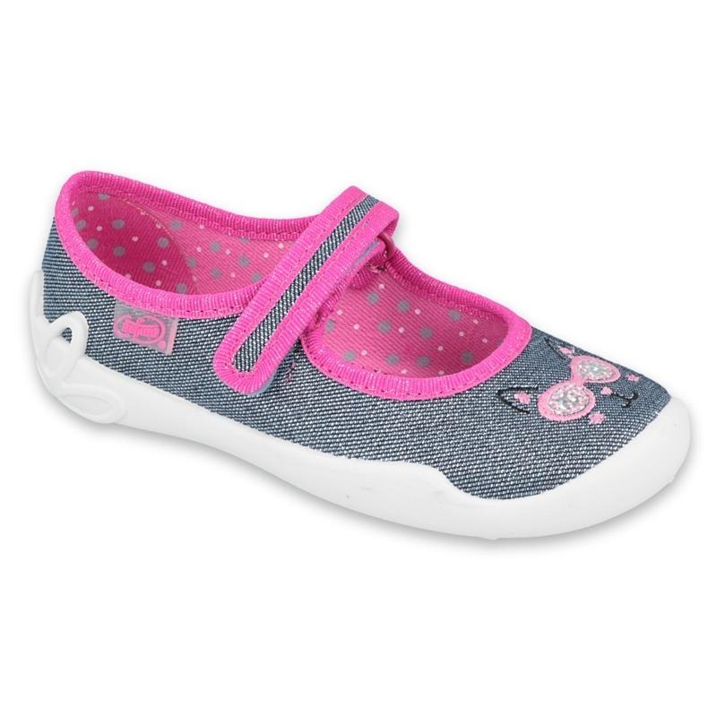 Befado kinderschoenen 114Y422 roze grijs