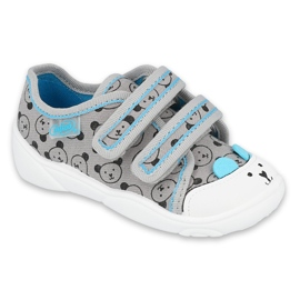 Befado kinderschoenen 907P129 zwart blauw grijs