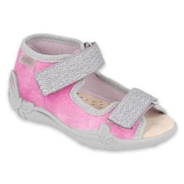 Befado kinderschoenen 342P034 roze grijs