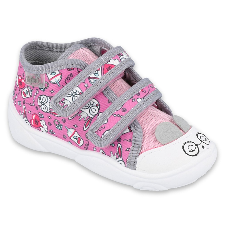 Befado kinderschoenen 212P070 roze grijs