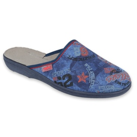 Befado gekleurde jeugdschoenen 201Q093 marineblauw blauw