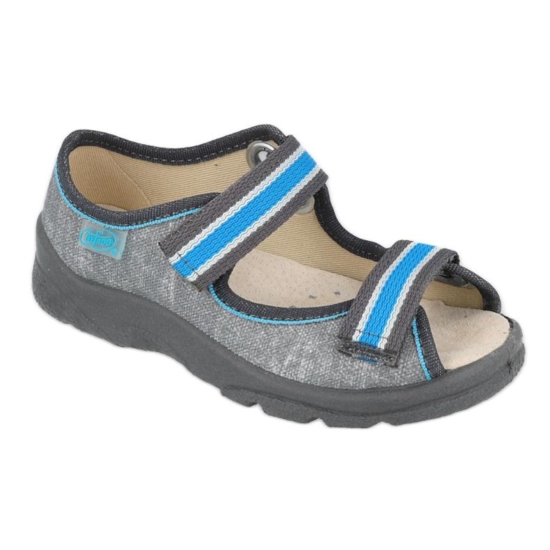Befado kinderschoenen 869X157 blauw grijs