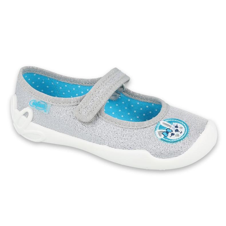 Befado kinderschoenen 114X444 blauw grijs