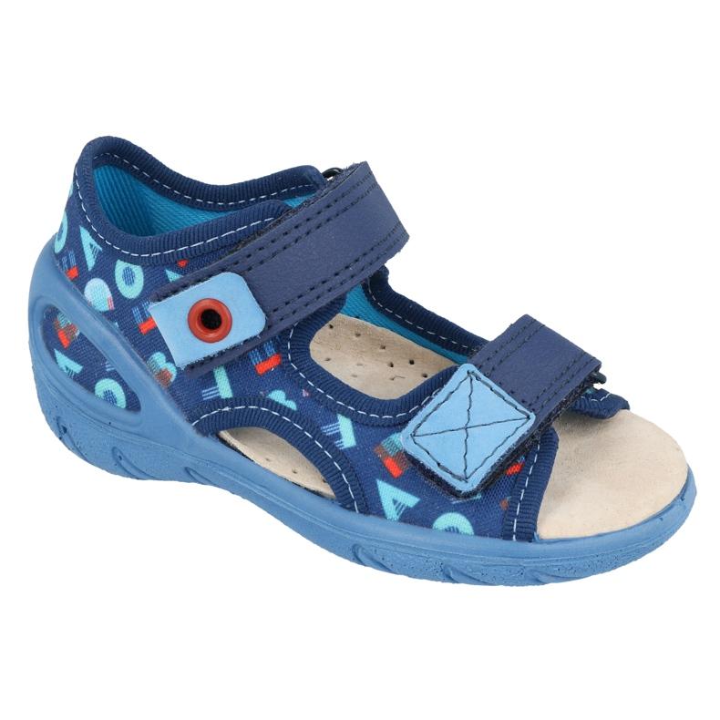 Befado kinderschoenen pu 065X161 marineblauw blauw