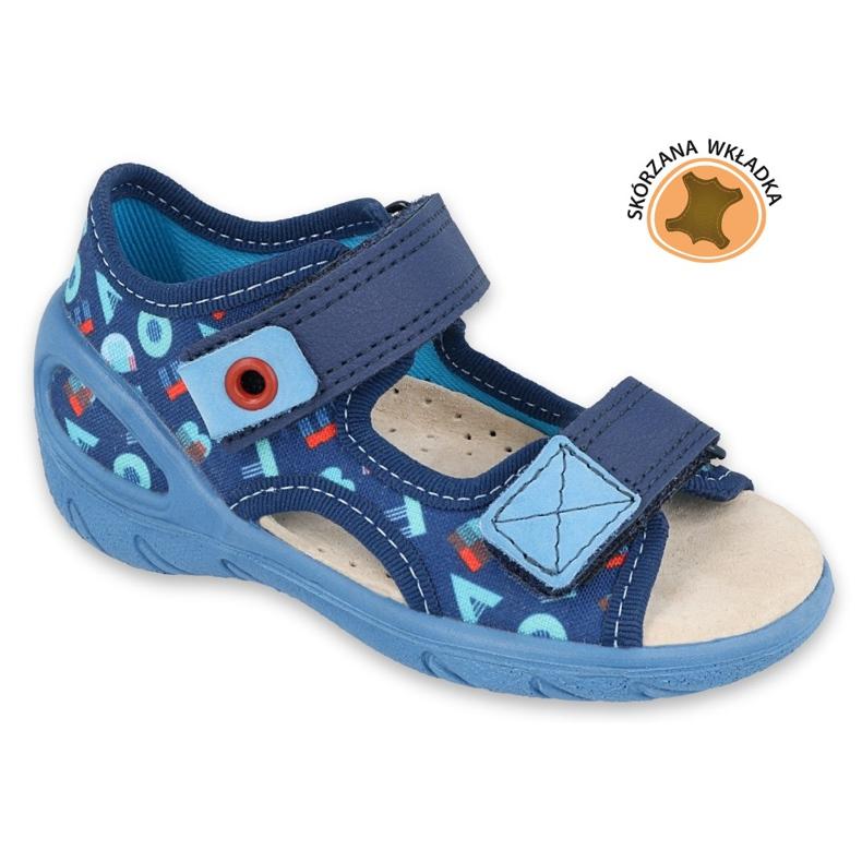 Befado kinderschoenen pu 065P161 marineblauw blauw