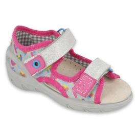 Befado kinderschoenen pu 065P149 roze grijs
