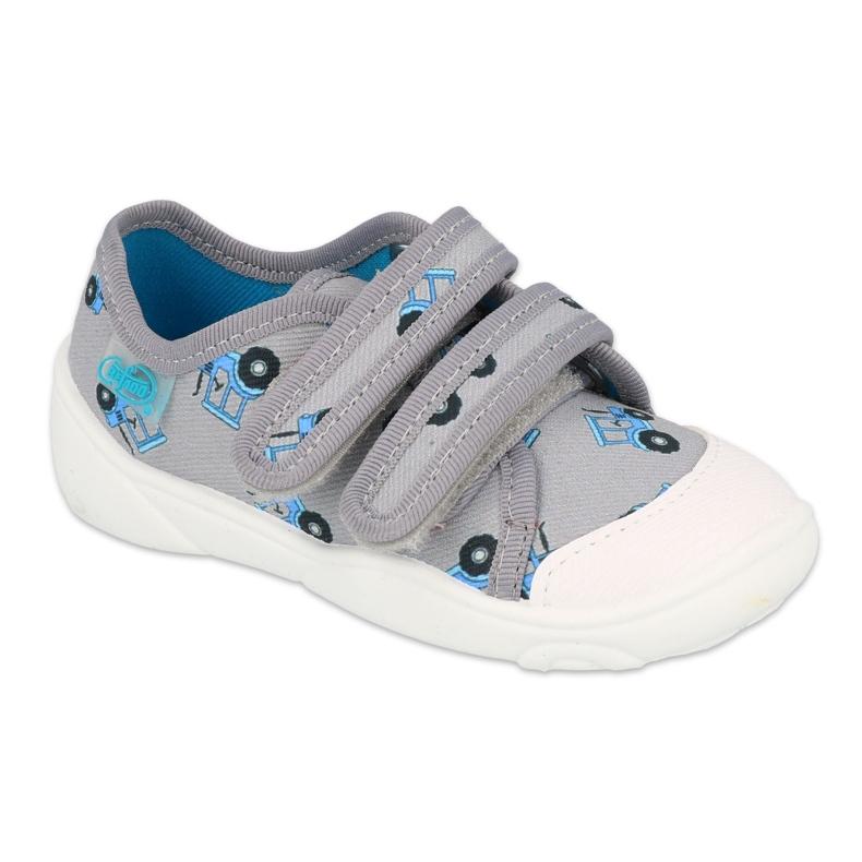 Befado kinderschoenen 907P141 blauw grijs