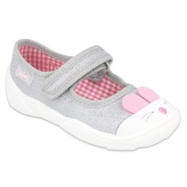 Befado kinderschoenen 209P033 roze zilver grijs