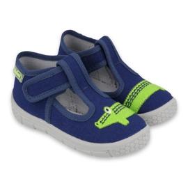 Befado kinderschoenen 531P083 marineblauw groente