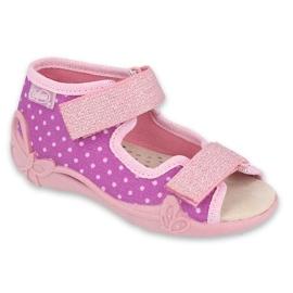 Befado kinderschoenen 342P038 paars roze