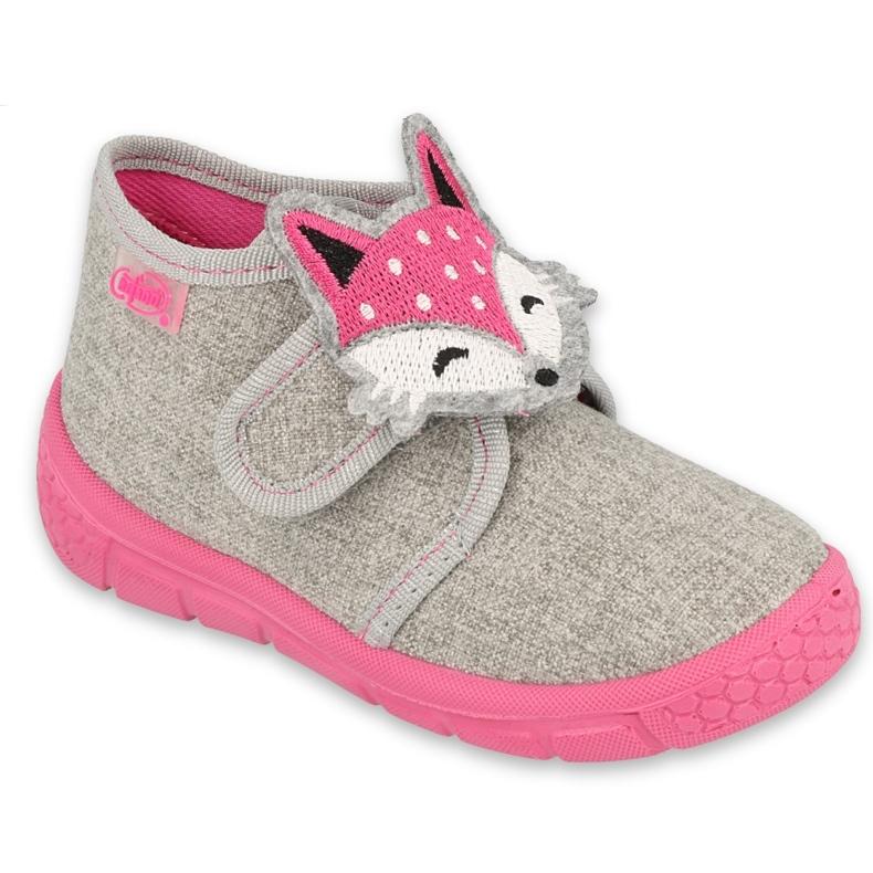 Befado kinderschoenen 538P053 roze grijs