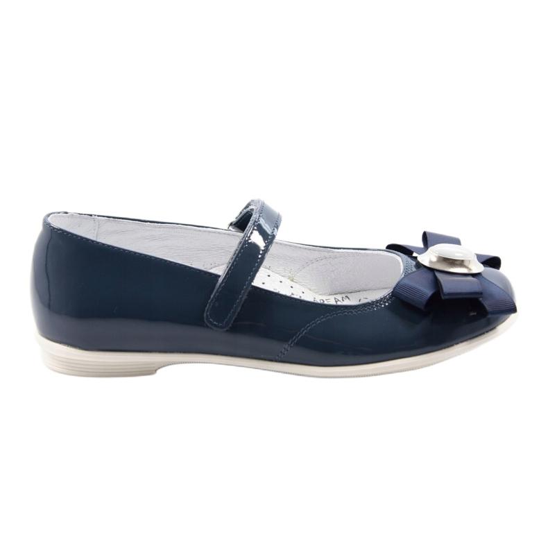 Ballerina's kinderschoenen Bartek 45418 marine blauw wit veelkleurig