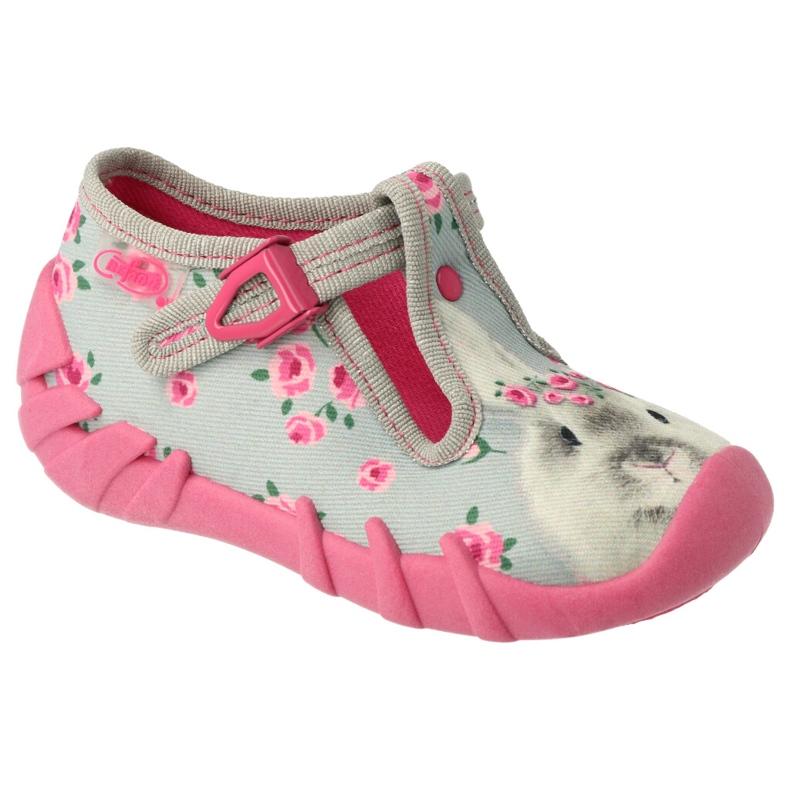 Befado kinderschoenen 110P425 roze grijs