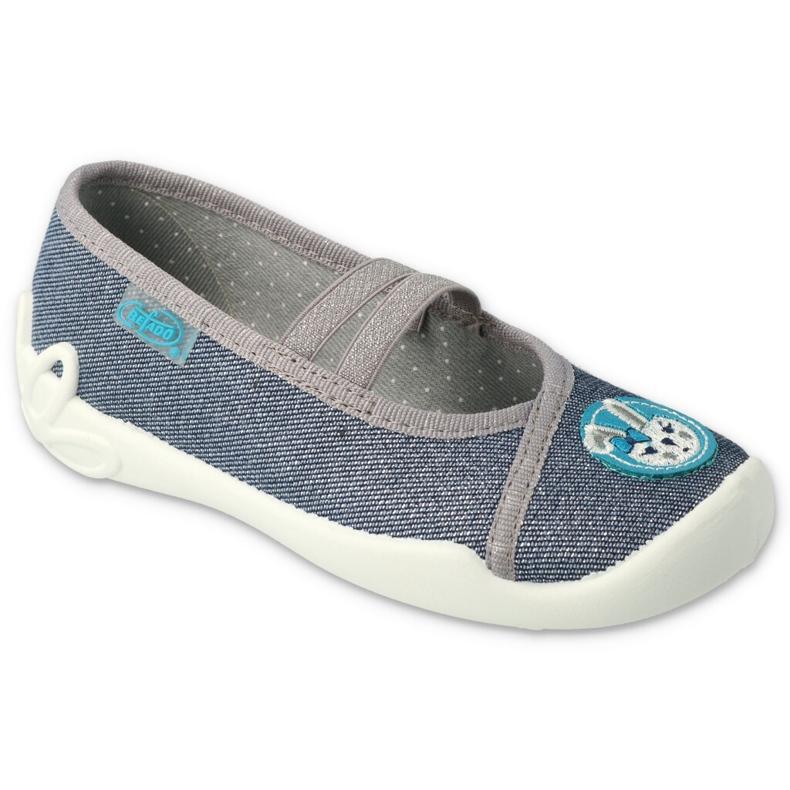 Befado kinderschoenen 116X298 marineblauw grijs