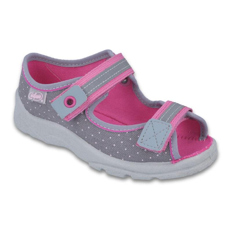 Befado kinderschoenen 969Y126 roze grijs
