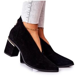 Leren laarzen op hoge hak Laura Messi zwart 2344