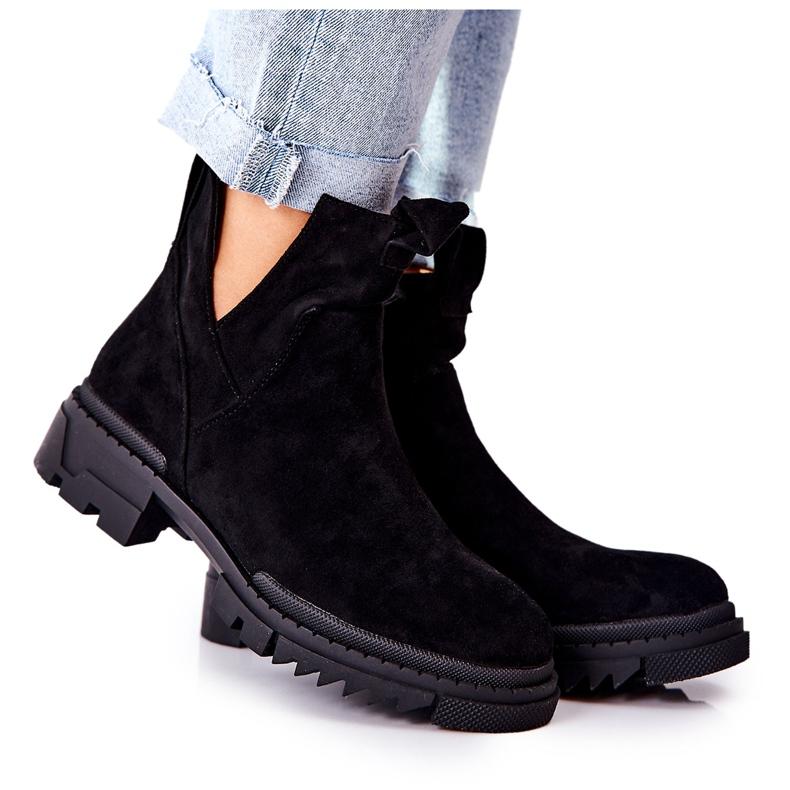POTOCKI Zwarte Corano-laarzen met uitgesneden rits