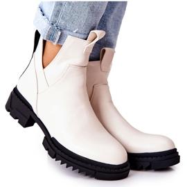 POTOCKI Witte Corano-laarzen met een ritssluiting