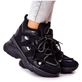 POTOCKI Sport zwarte Hesane sleehak schoenen