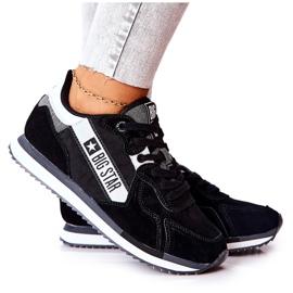 Leren sportschoenen Big Star II274271 Zwart wit