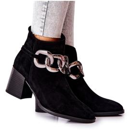 Leren laarzen met ketting Laura Messi Zwart 2345